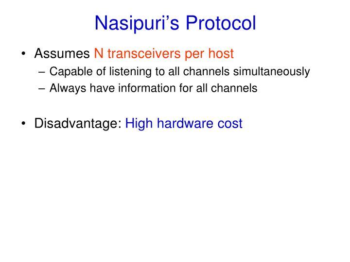 Nasipuri's Protocol