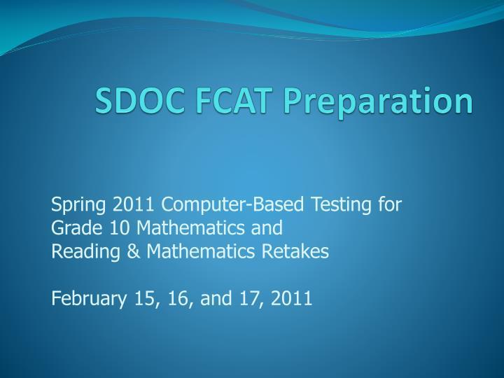 sdoc fcat preparation