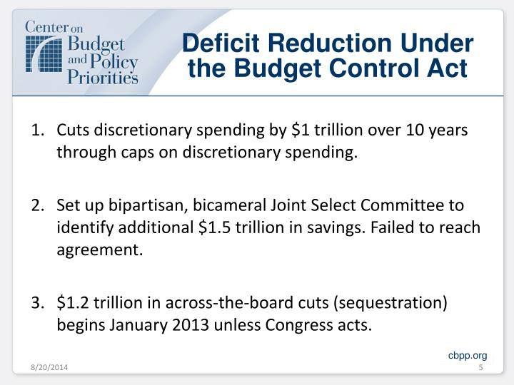 Deficit Reduction Under the Budget Control Act