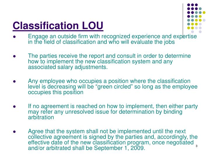 Classification LOU