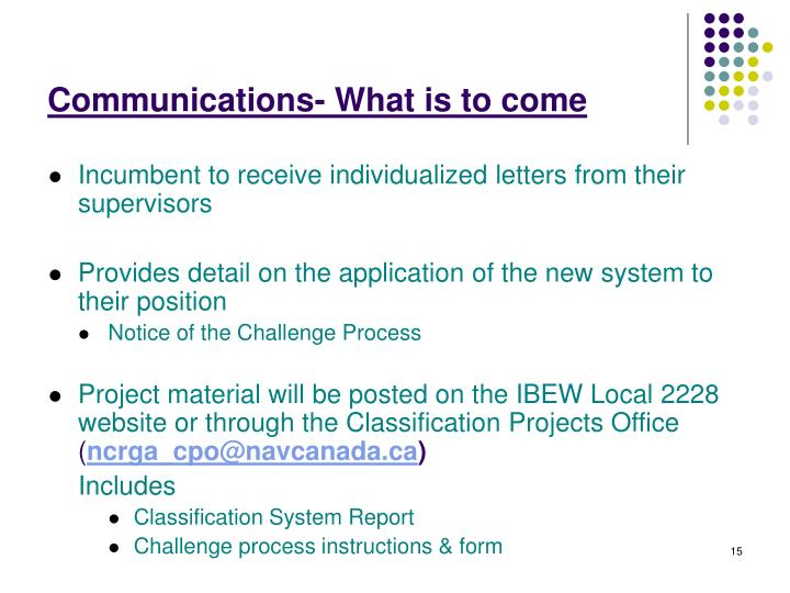 Communications- What is to come
