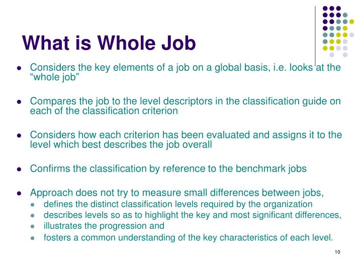 What is Whole Job