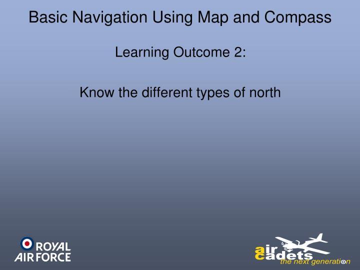 Basic Navigation Using Map and Compass