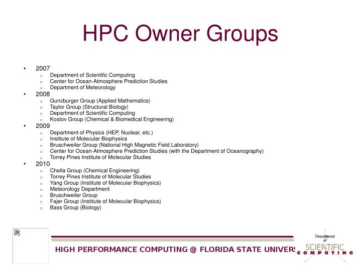 HPC Owner Groups