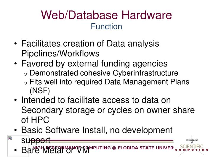 Web/Database Hardware