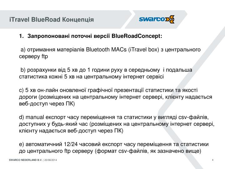 iTravel BlueRoad