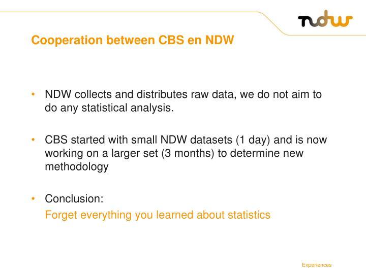 Cooperation between CBS en NDW