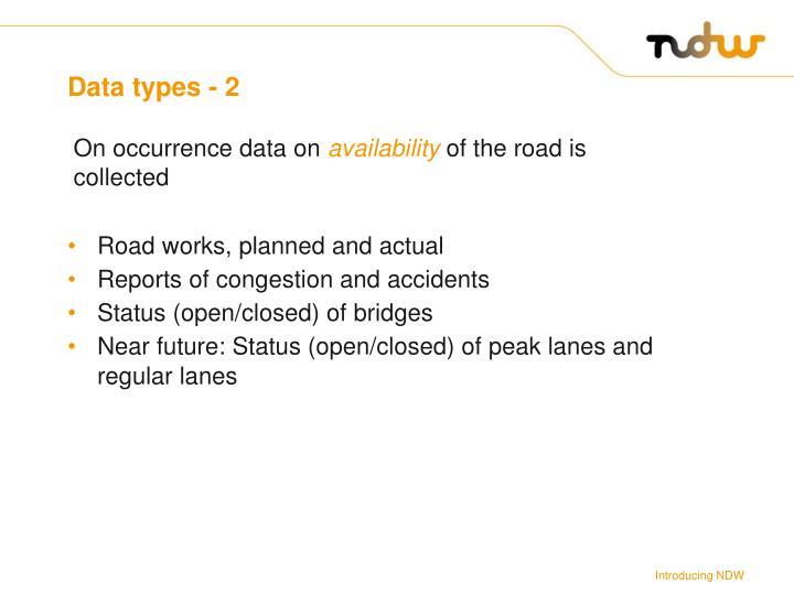 Data types - 2