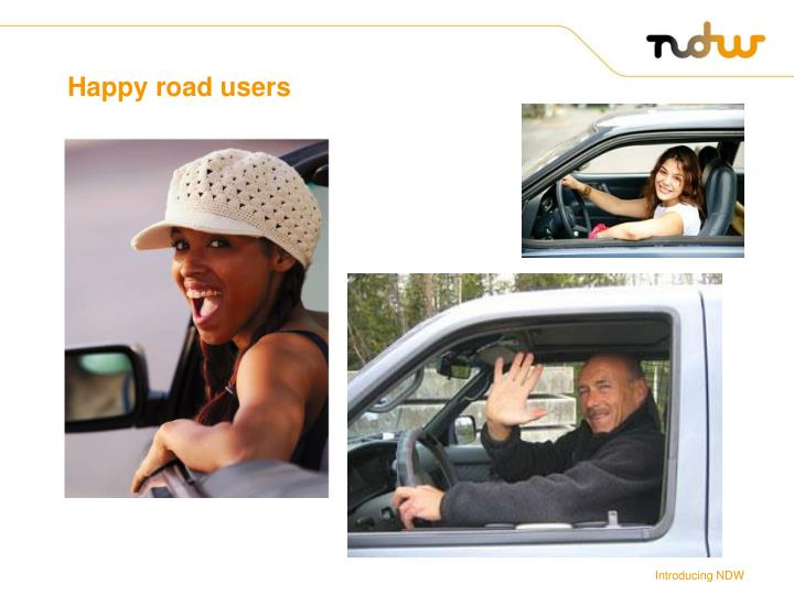 Happy road users