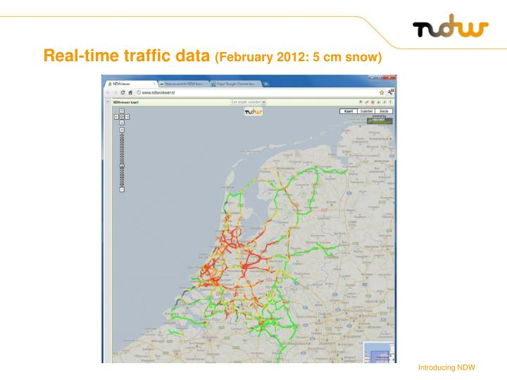 Real-time traffic data
