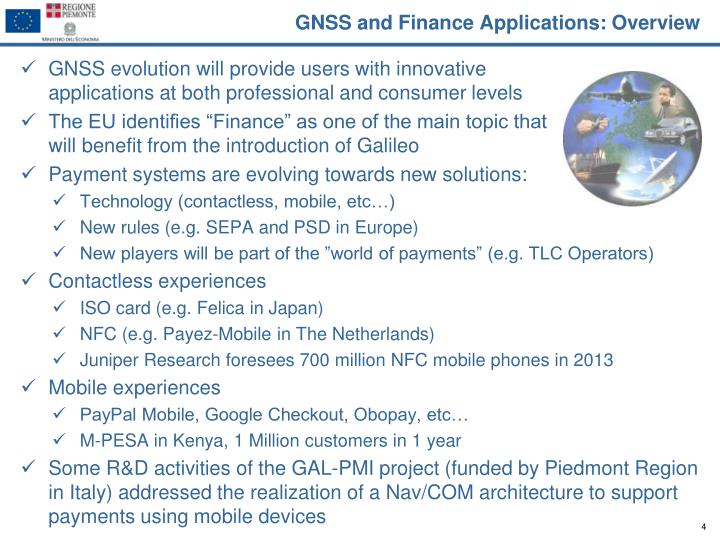 GNSS and Finance Applications: Overview