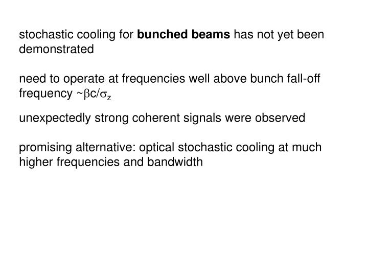stochastic cooling for