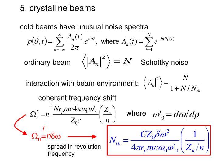 5. crystalline beams