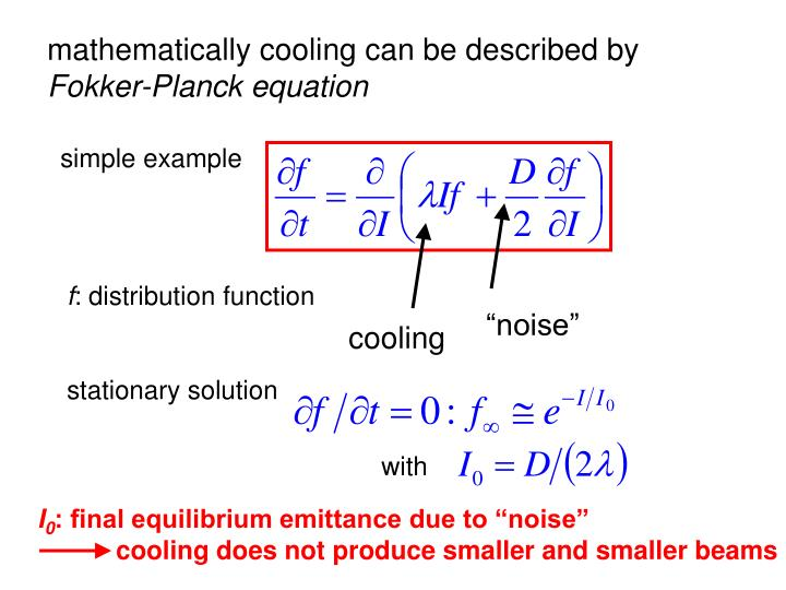 mathematically cooling can be described by