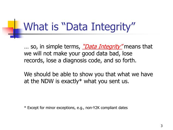 What is data integrity1