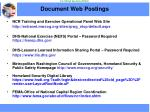document web postings