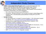 independent study courses