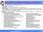 ncr esf 6 leadership training conference