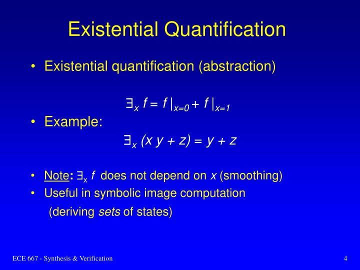 Existential Quantification
