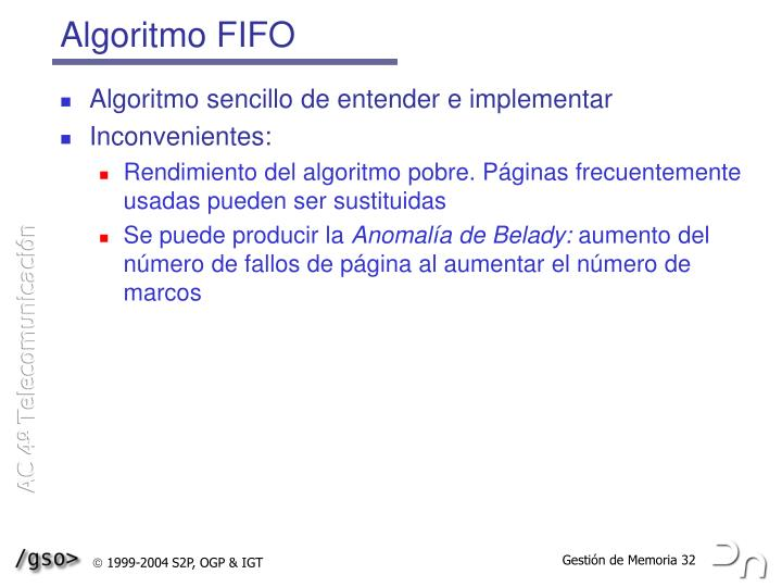 Algoritmo FIFO