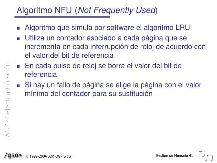 Algoritmo NFU