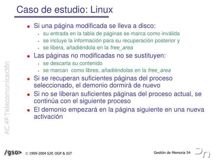 Caso de estudio: Linux