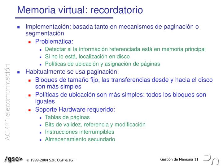 Memoria virtual: recordatorio