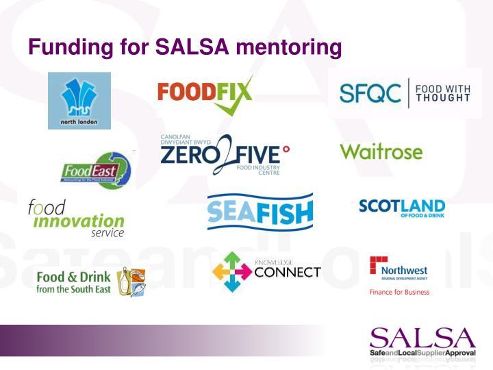 Funding for SALSA mentoring