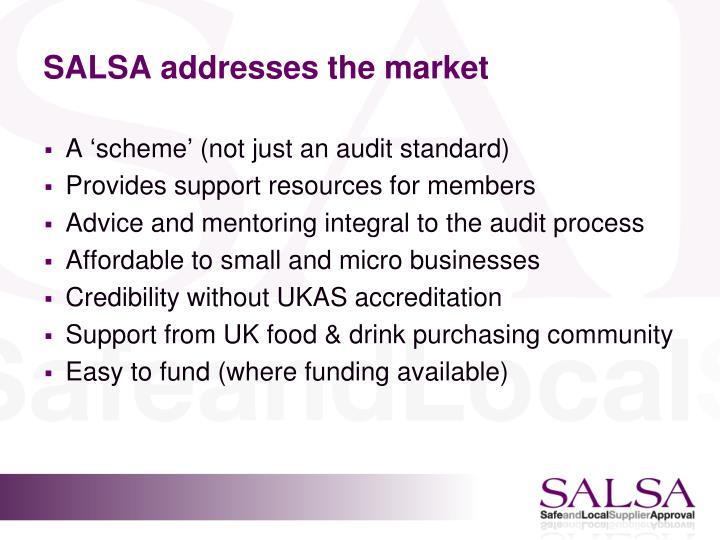 SALSA addresses the market