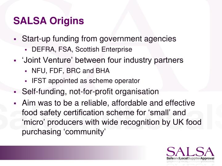 SALSA Origins