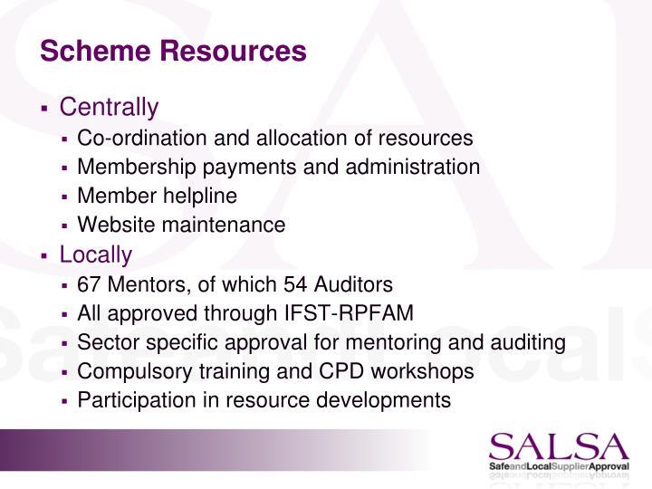 Scheme Resources