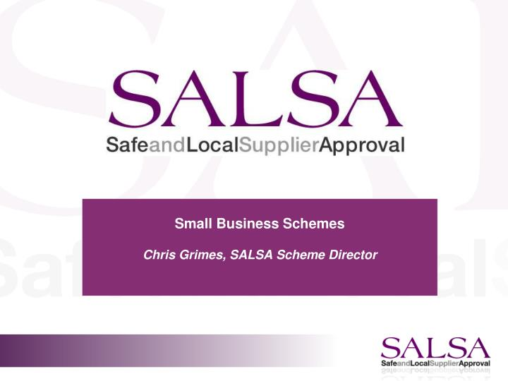 small business schemes chris grimes salsa scheme director