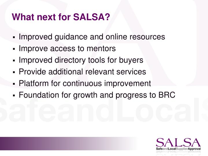 What next for SALSA?