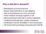 why is salsa in demand
