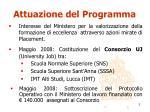 attuazione del programma