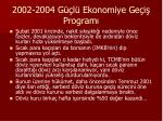 2002 2004 g l ekonomiye ge i program