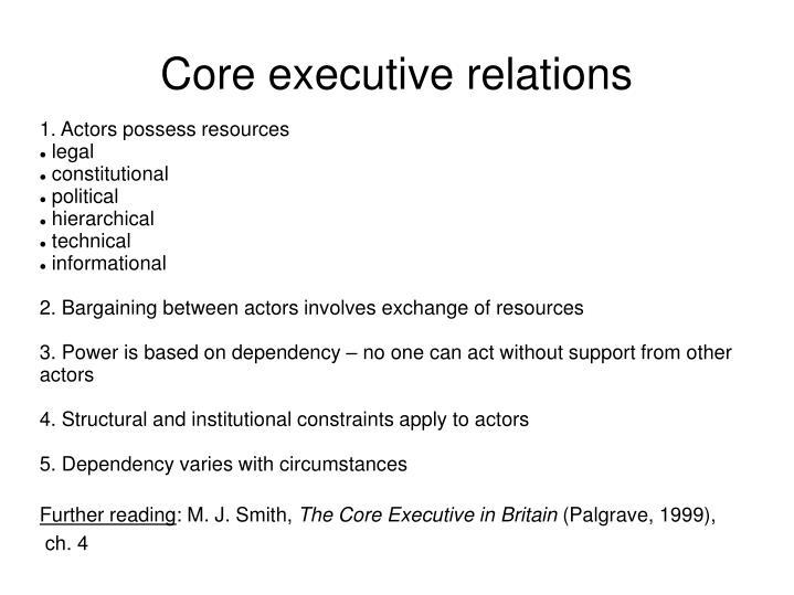 1. Actors possess resources