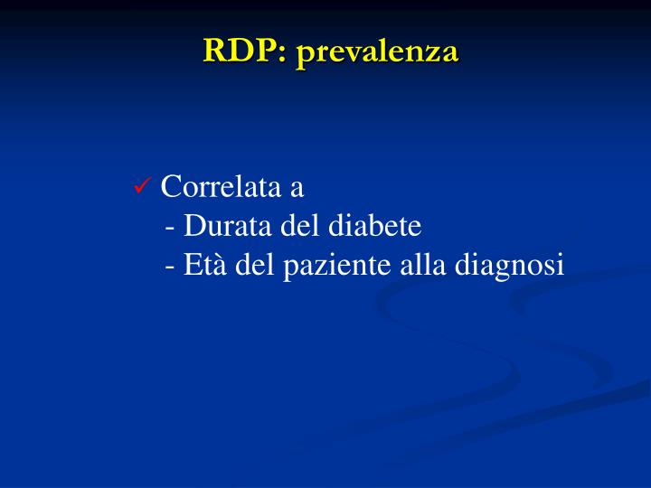 RDP: prevalenza