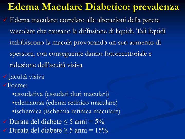 Edema Maculare Diabetico: prevalenza