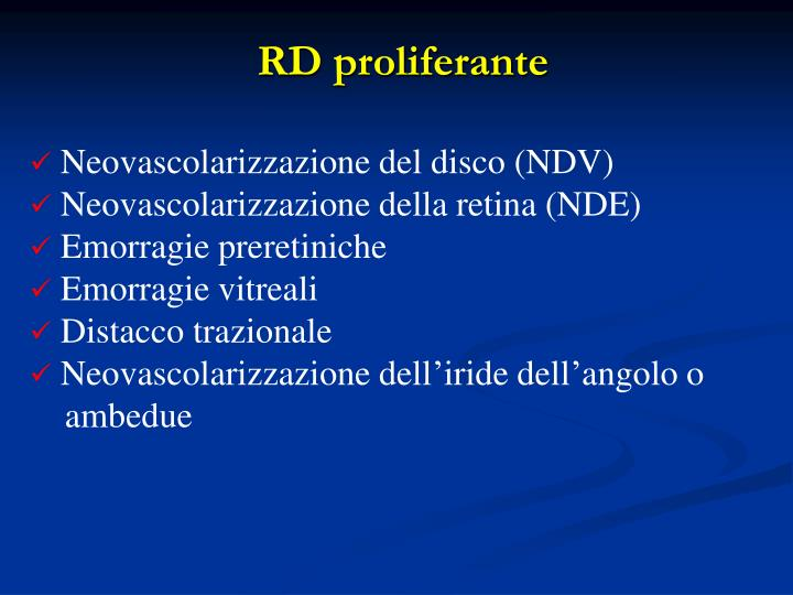 RD proliferante