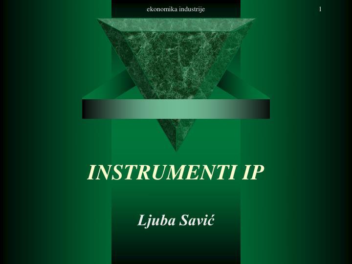instrumenti ip