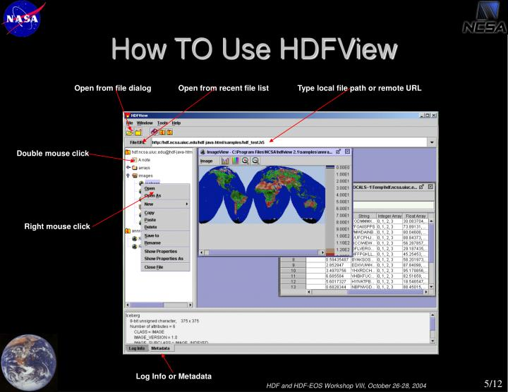 How TO Use HDFView
