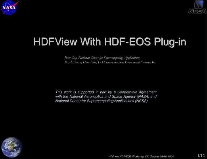 HDFView With HDF-EOS Plug-in