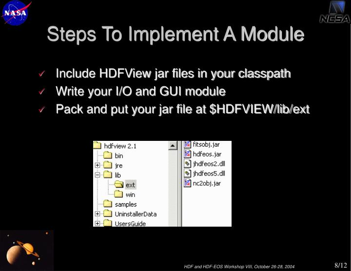 Steps To Implement A Module