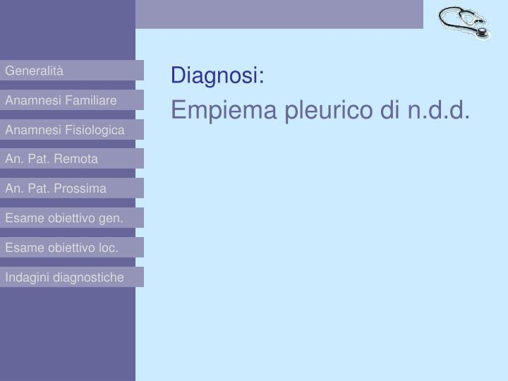 Diagnosi: