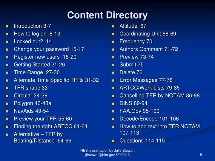 Content Directory
