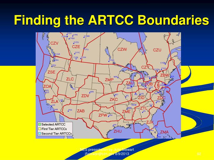 Finding the ARTCC Boundaries