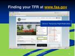 finding your tfr at www faa gov