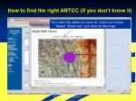 how to find the right artcc if you don t know it