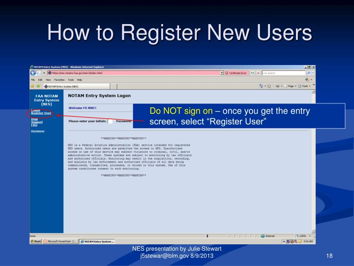 How to Register New Users